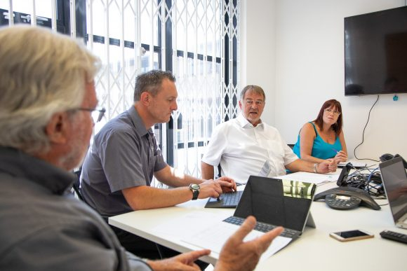 IT Support Internal Meeting. IT Servicing in Oxford and the UK. Firstline IT Services.